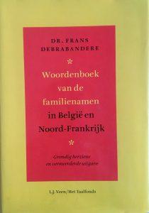Woordenboek van de familienamen in België en Noord-Frankrijk