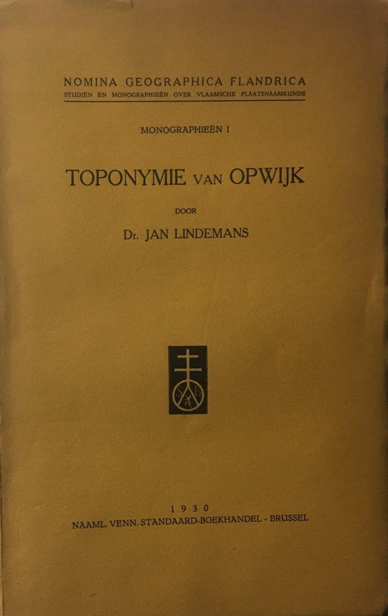 Toponymie van Opwijk Lindemans
