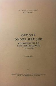 Opdorp onder het juk 1914-1918