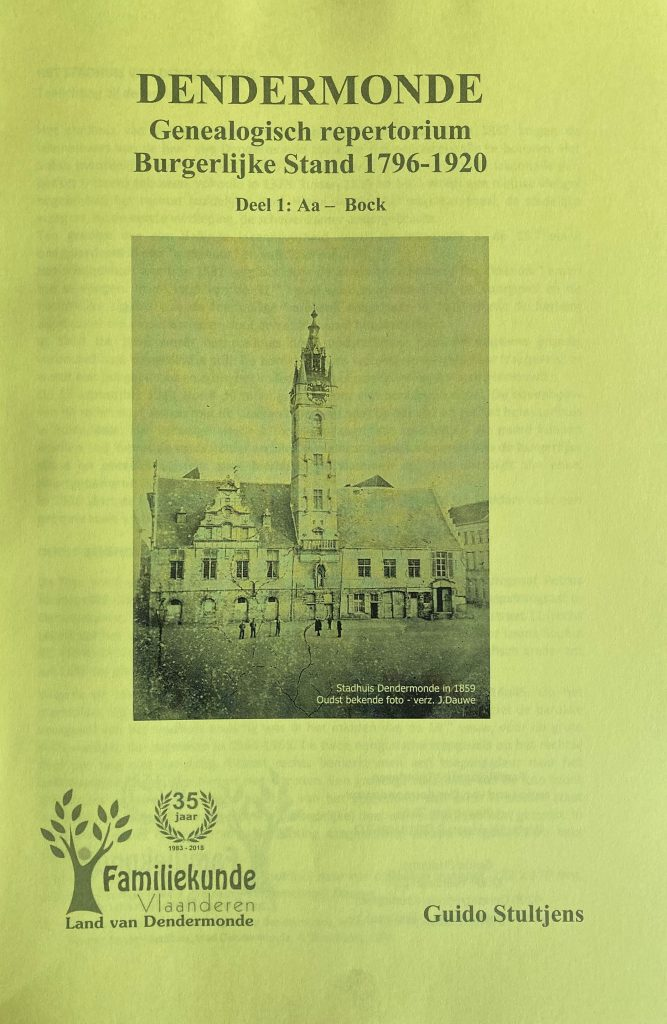 Dendermonde. Genealogisch repertorium Burgerlijke Stand 1796-1920