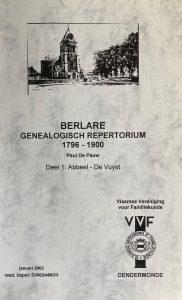 Berlare. Genealogisch repertorium 1796-1900